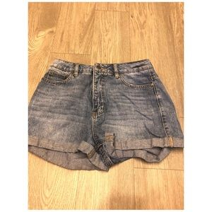 RVCA denim high waisted shorts